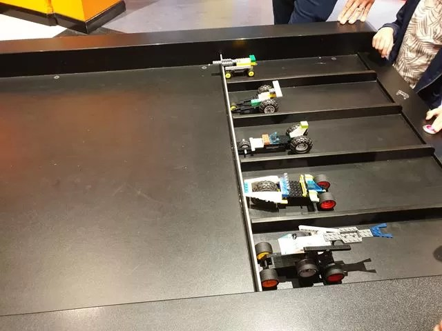 start of the lego car race