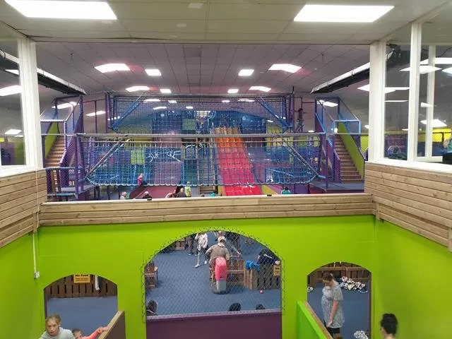view over soft play