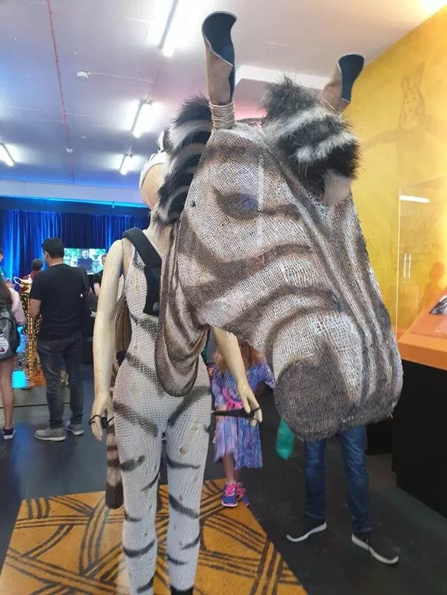 zebra costume from th eLion King