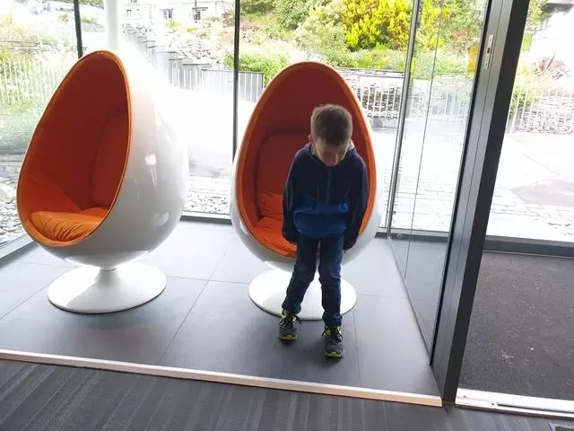 egg chairs at low wood bay