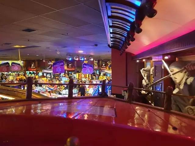 empty coral island arcade games walkway