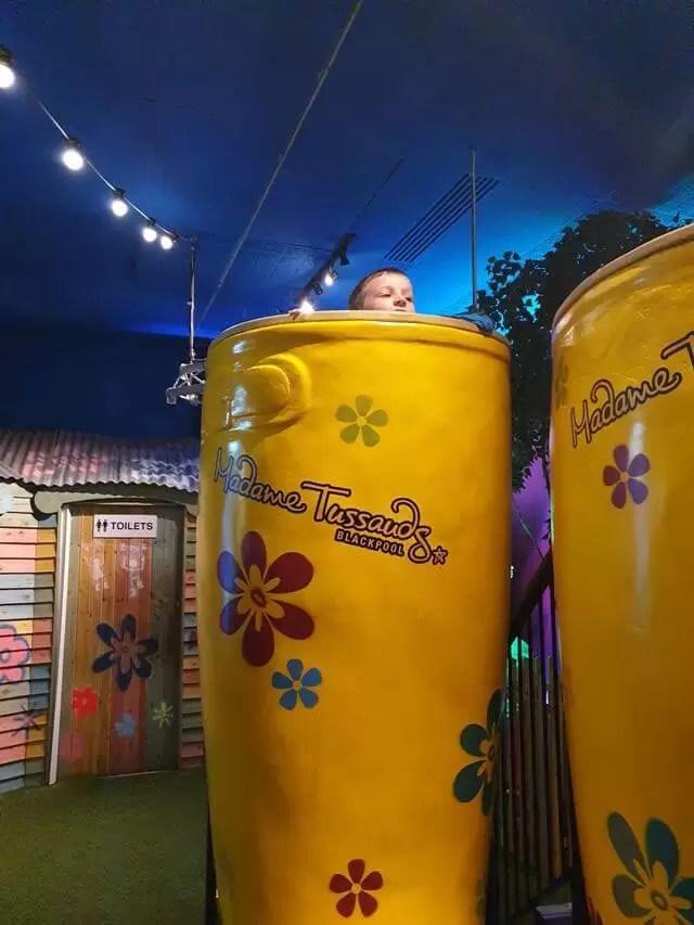 giant yellow festival wellies