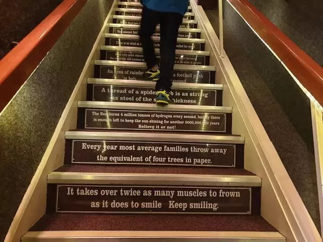 going up quotes on stairs