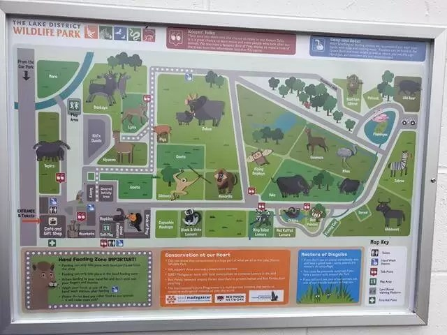 lakes wildlife park map