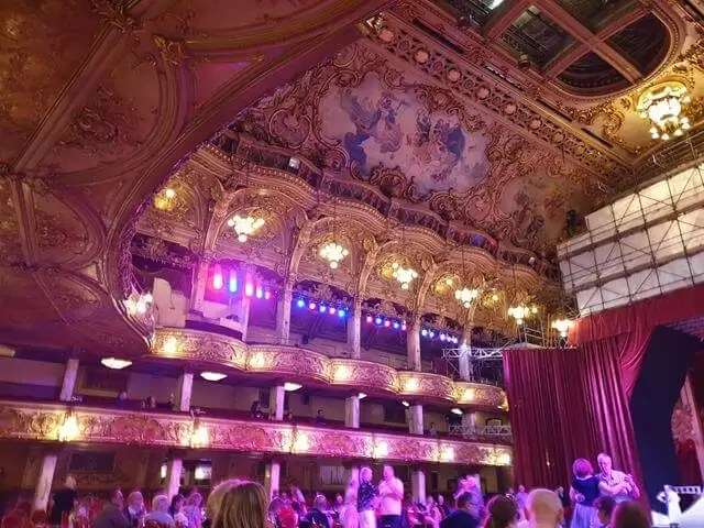 the balconies at blackpool tower ballroom