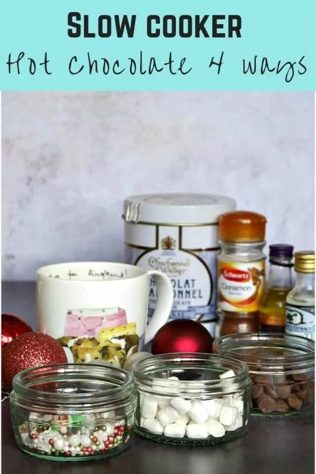 Slow cooker hot chocolate recipes 4 ways - Bubbablue and me