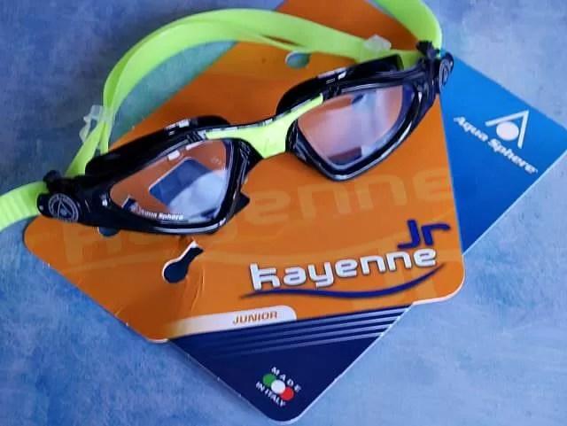 aquasphere kayenne swim goggles junior