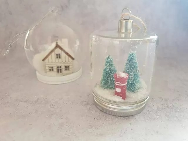 homemade snow globe style decoration