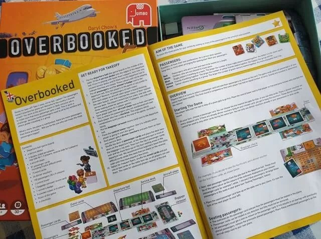 overbooked game rules leaflet