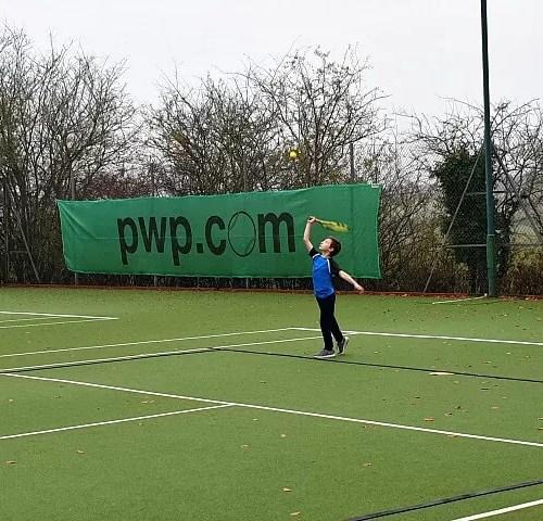 serving at tennis