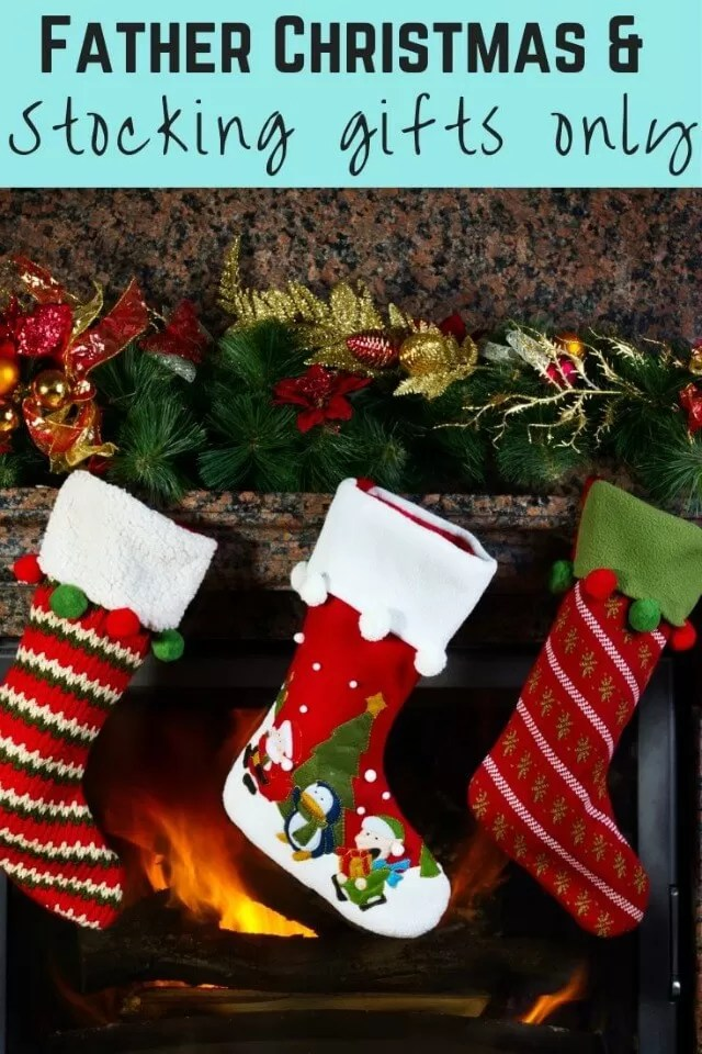 Father Christmas brings stocking gifts only