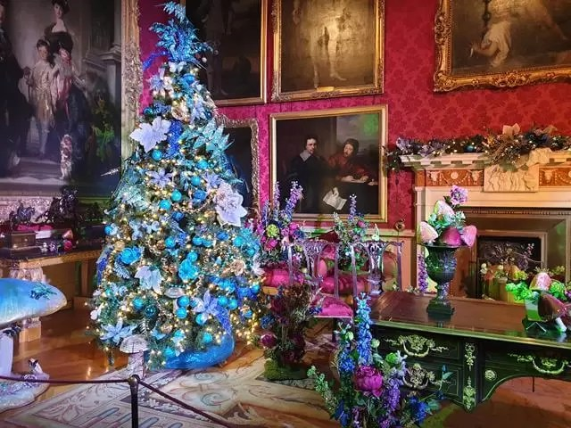 beautiful multicoloured christmastree