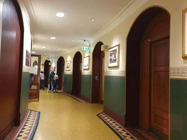 corridor at Royal Albert Hall