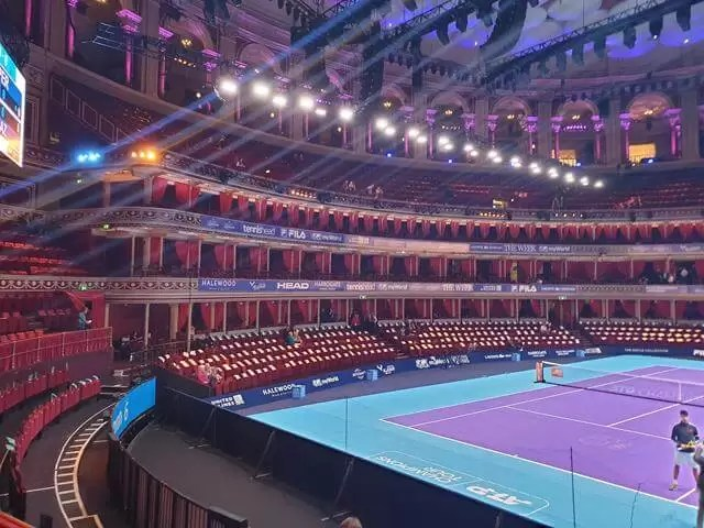 tennis court in the round at Royal Albert Hall