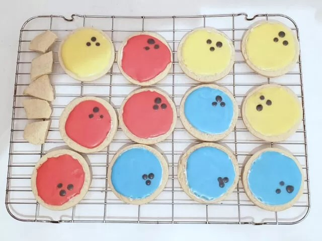 bowling ball cookies