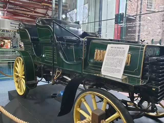 old green vehicle in enginuity