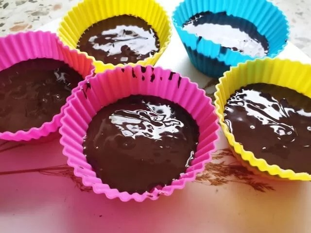 chocolate topped coconut fat bombs