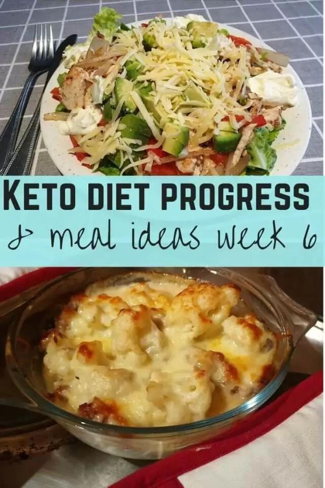 keto meal ideas and diet progress week 6