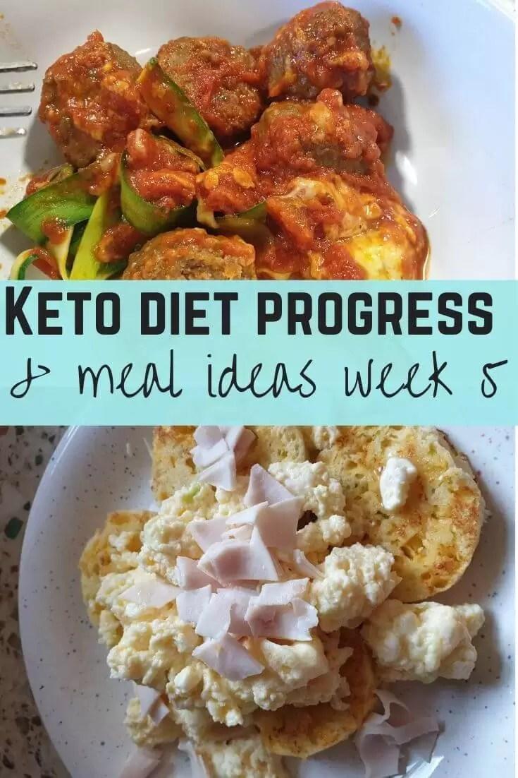 keto meals diet progress week 5