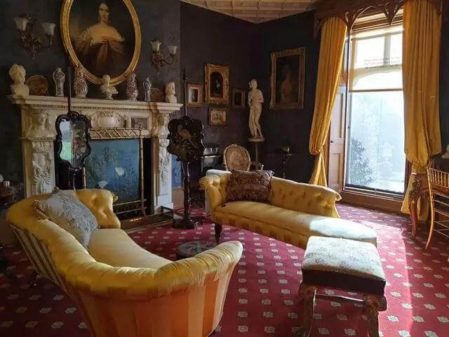 sitting room at hughenden manor