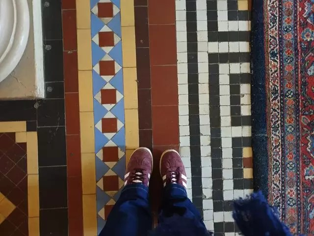 colourful tiled floor