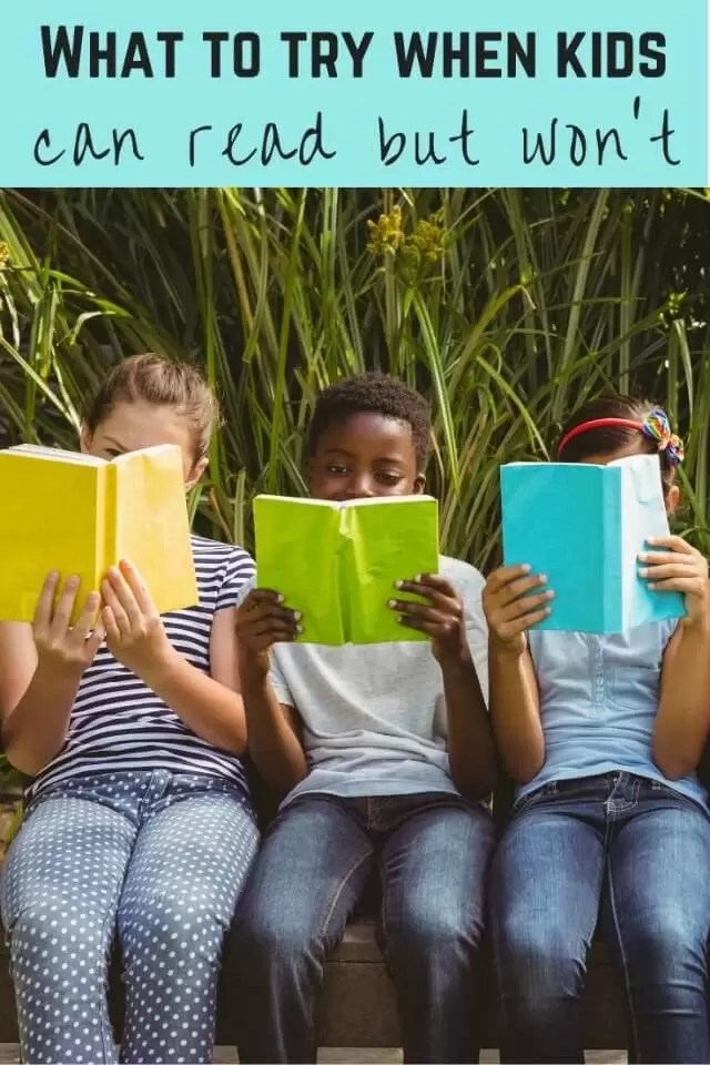 what to try when kids won't read