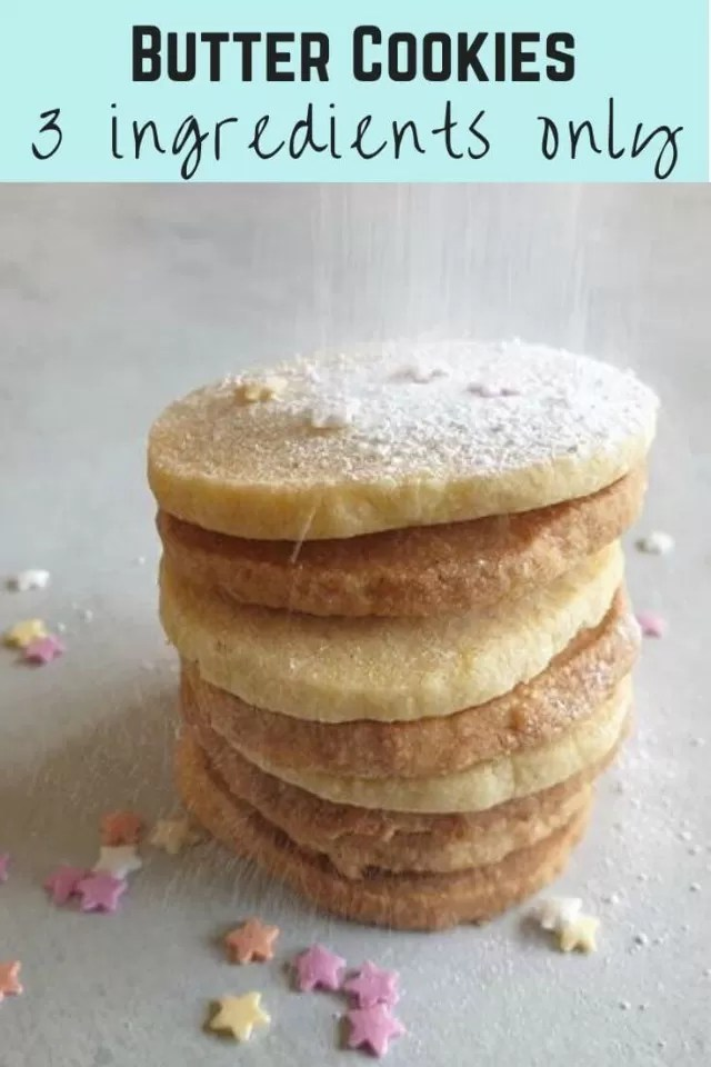 butter cookie stack with icing sugar recipe