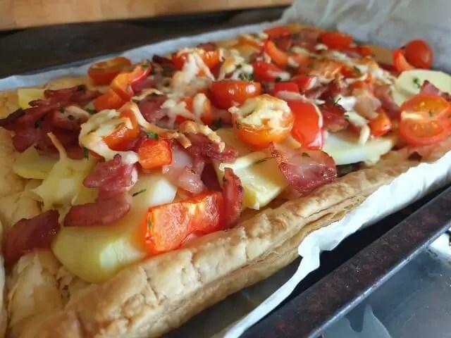 loaded pastry tart