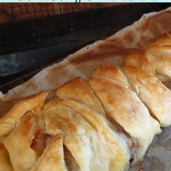 Easy homemade sausage plait recipe