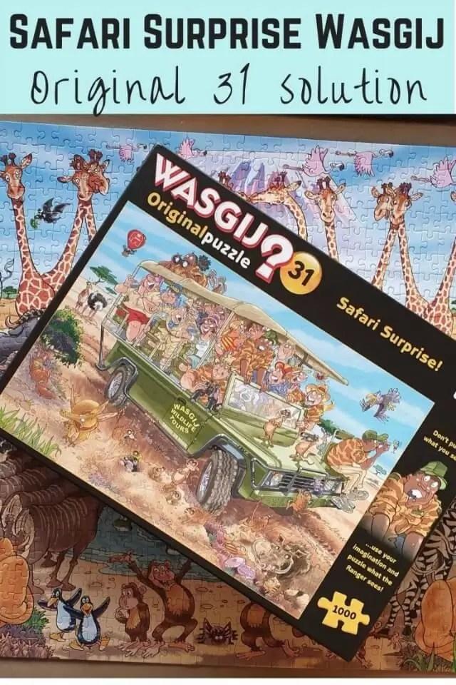 Wasgij original 31 safari surprise puzzle image with solution