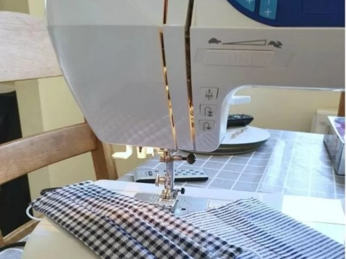 learning to sew and making fase masks