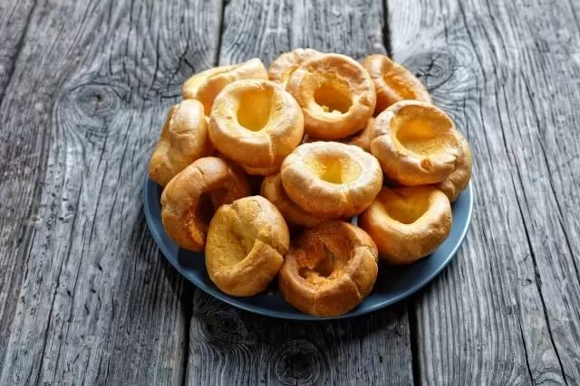 plate of individual yorkshire puddings