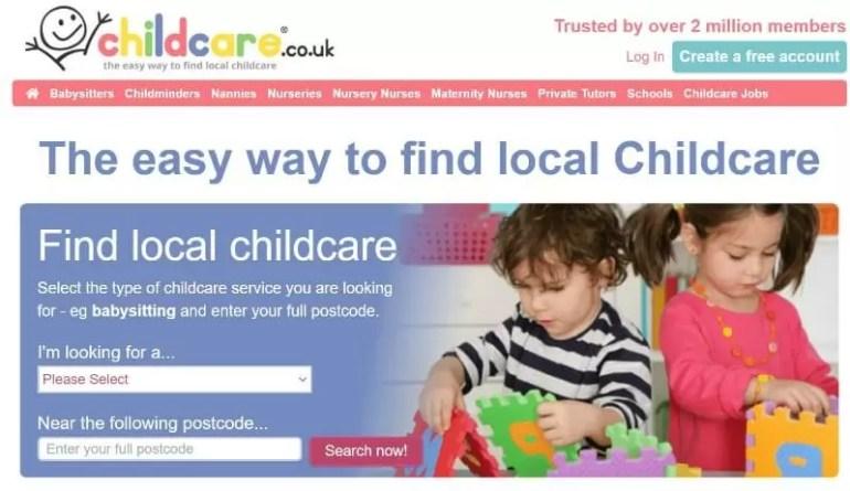childcare.co.uk website