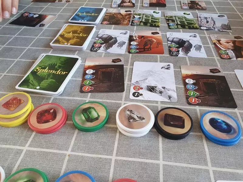 splendor game set up