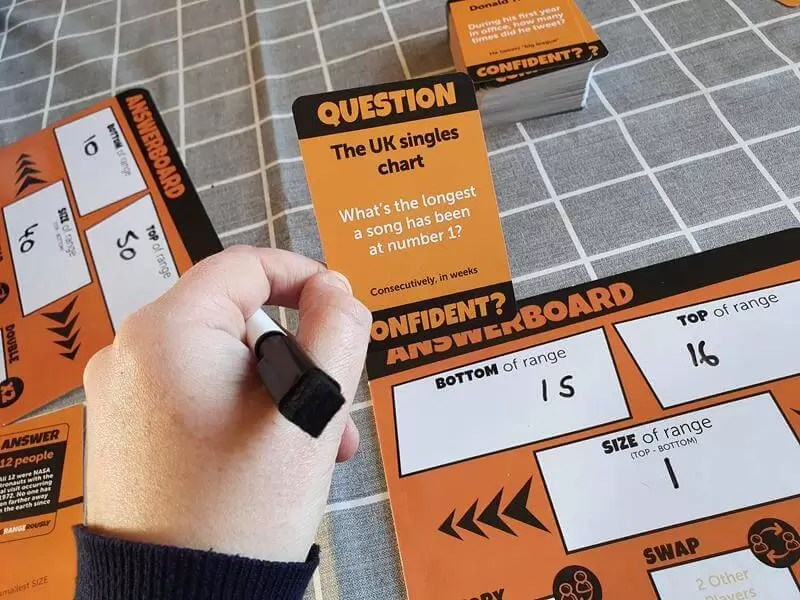 finding the answer out for the question in Confident game