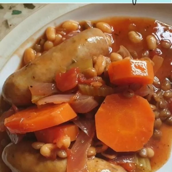 Hearty (throw it all in) sausage casserole recipe