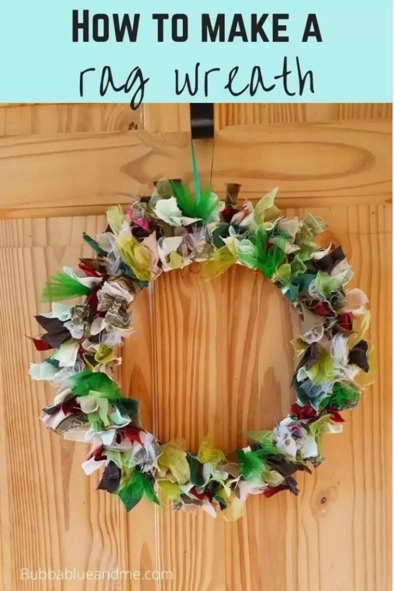 make a rag wreath