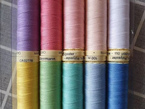rainbow cotton reel threads