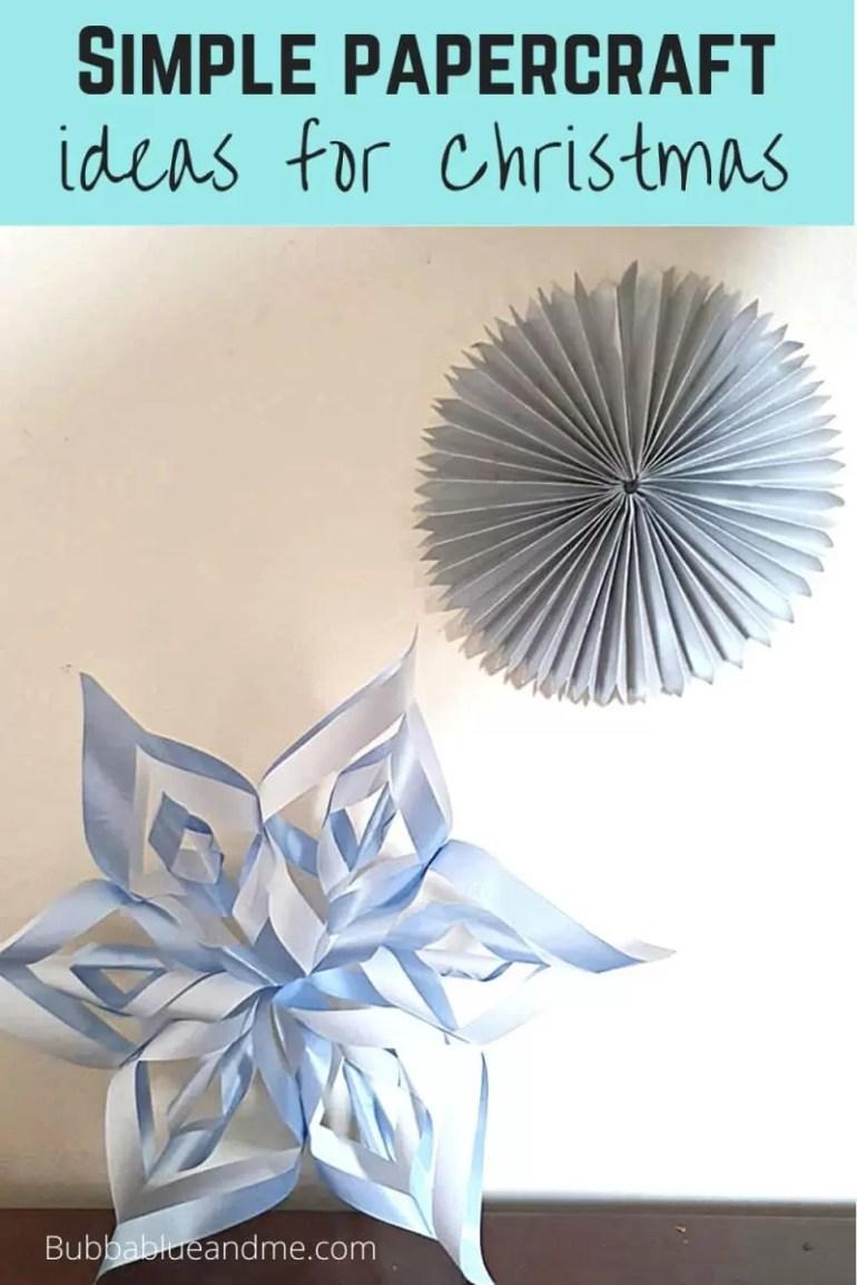Papercraft Christmas decoration ideas