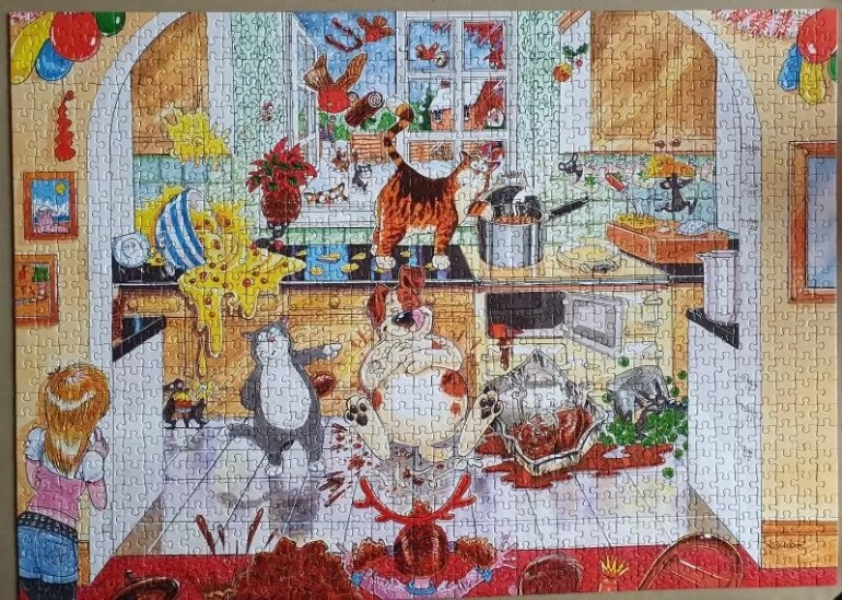 Wasgij Christmas stuffing puzzle solution