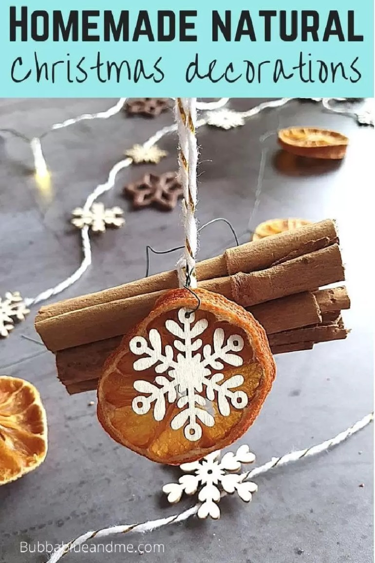 homemade natural christmas decorations