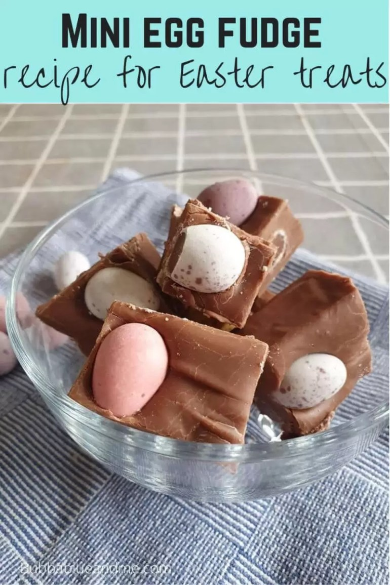 Mini eggs fudge easter treats recipe
