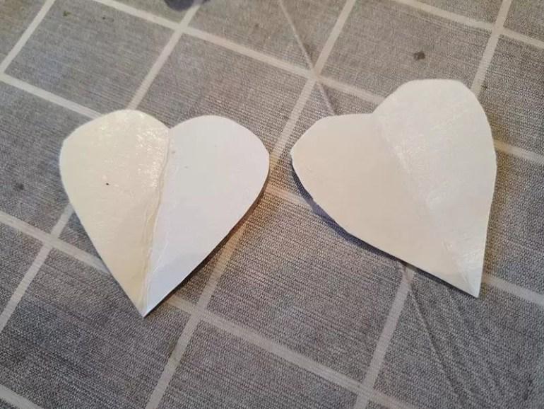 heart templates to trim pom poms