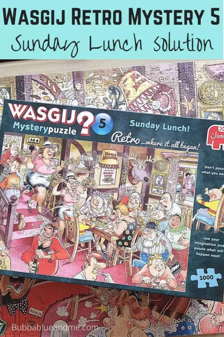 Wasgij Retro mystery 5 Sunday Lunch blog