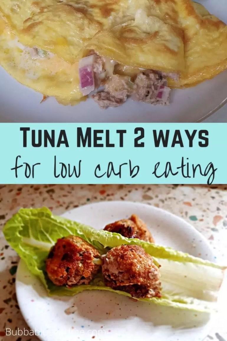 tuna melt 2 ways for keto eaing