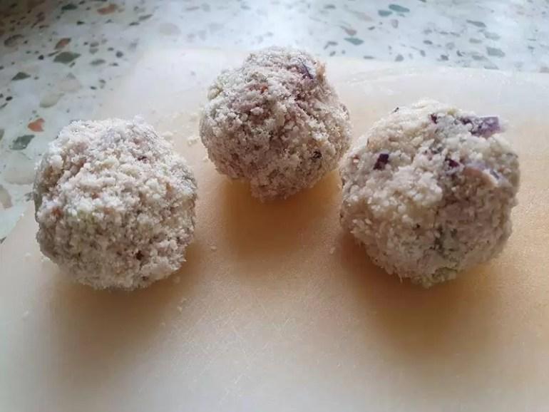 tuna melt bites coated in almond flour