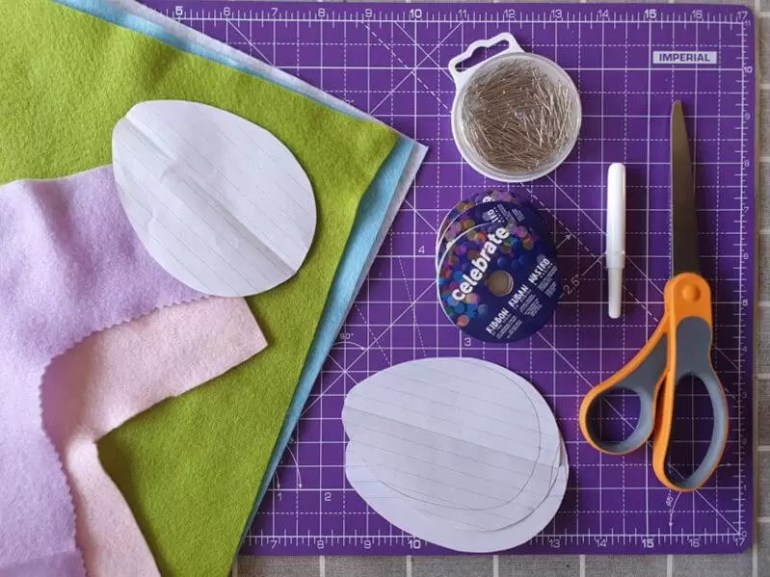 what you need to make easter egg bunting
