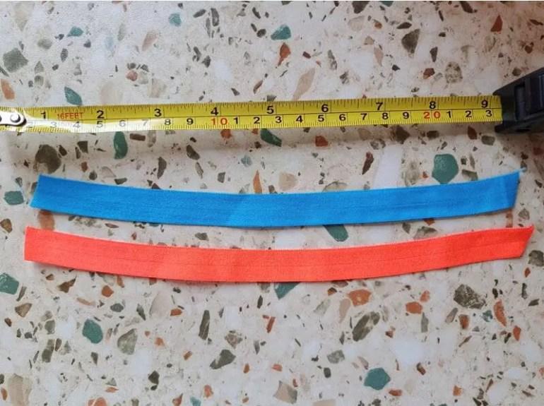 measure elastic for hair ties