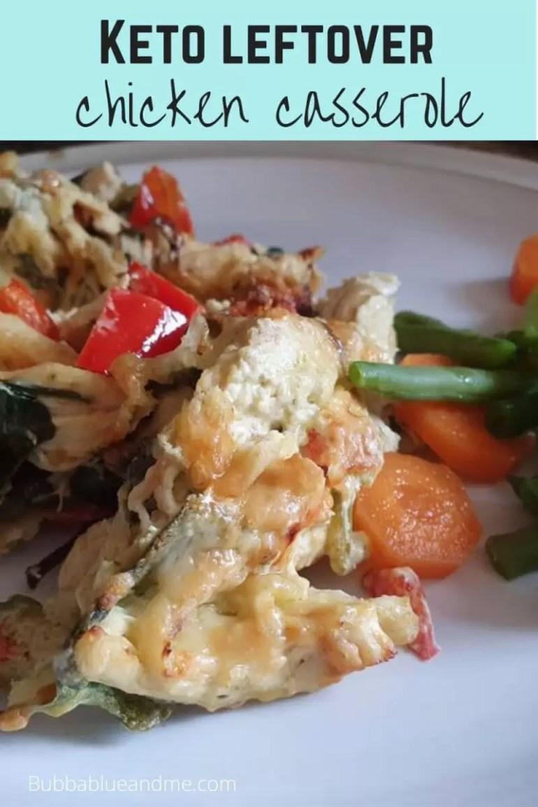 keto leftover chicken casserole recipe blog