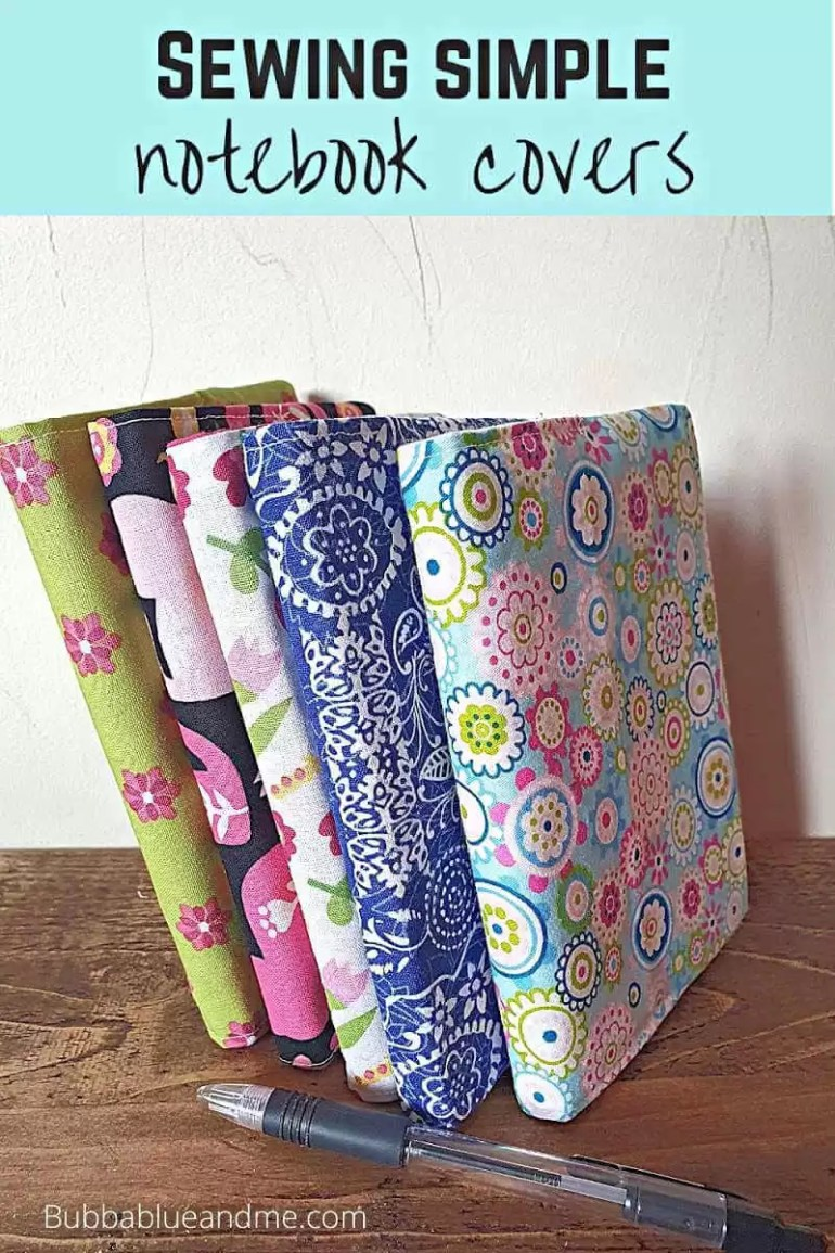 sewing simple fabric notebook covers